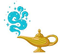 Genie Lamp embroidery design