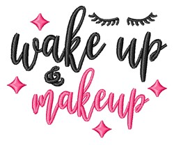 Wake Up embroidery design