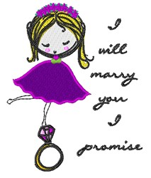 Will Marry You embroidery design
