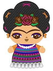Frida Kahlo embroidery design