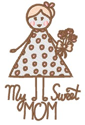 My Sweet Mom embroidery design