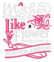 Mother Like A Flower embroidery design
