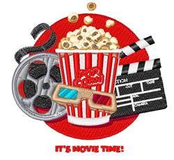 Movie Time embroidery design