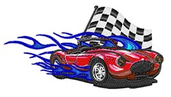 Race Car embroidery design