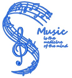 Music Is Medicine embroidery design