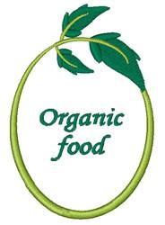 Organic Food embroidery design