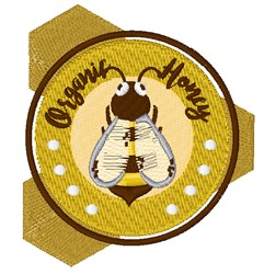 Organic Honey embroidery design