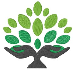 Tree Hands Symbol embroidery design