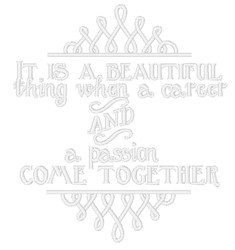Career & Passion embroidery design
