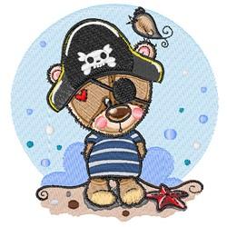 Pirate Teddy embroidery design