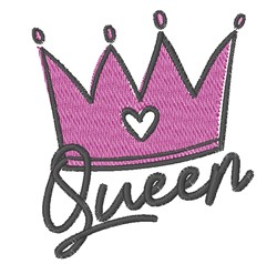 Queen Crown embroidery design