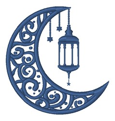 Lamp Moon embroidery design