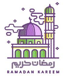 Ramadan Kareem embroidery design