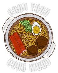 Good Food embroidery design