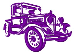 Vintage Car embroidery design