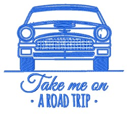 A Road Trip embroidery design