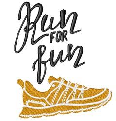 Run For Fun embroidery design