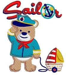Sailor Teddy embroidery design