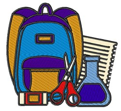 School Backpack embroidery design