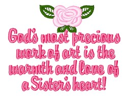 Sisters Heart embroidery design