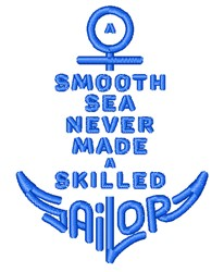 Skilled Sailor embroidery design