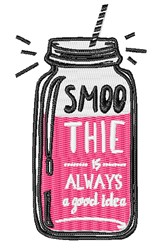 Smoothie embroidery design