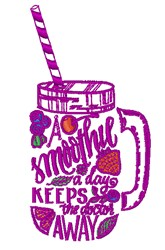 Smoothie A Day embroidery design