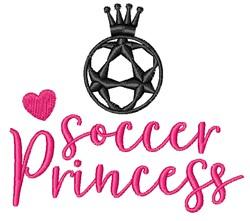 Soccer Princess embroidery design