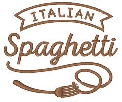 Italian Spaghetti embroidery design