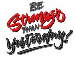 Be Stronger embroidery design
