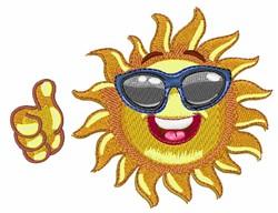 Cool Sun embroidery design