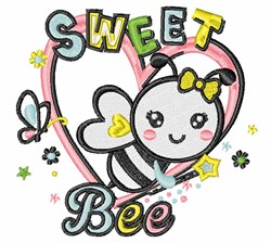 Sweet Bee embroidery design