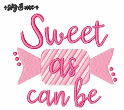 Sweet As Can Be embroidery design