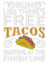 Free Tacos embroidery design