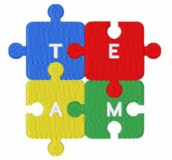 Team Puzzle embroidery design