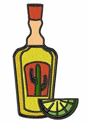 Tequila Bottle embroidery design