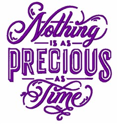 Precious Time embroidery design
