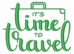 Time To Travel embroidery design