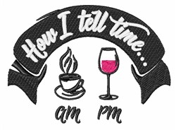 How I Tell Time embroidery design