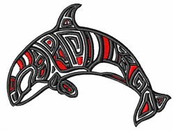 Tribal Whale embroidery design