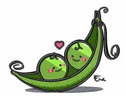 Peas In Pod embroidery design