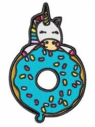 Donut Unicorn embroidery design