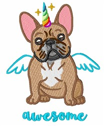 Awesome Frenchie embroidery design