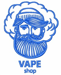Vape Shop embroidery design