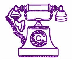 Vintage Telephone embroidery design