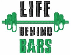 Life Behind Bars embroidery design