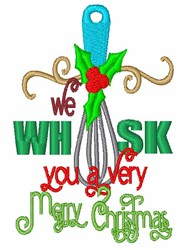 We Whisk You embroidery design