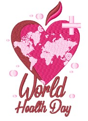 World Health Day embroidery design