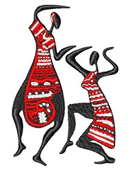 Tribal Dancers embroidery design