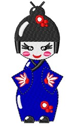 Oriental Girl embroidery design